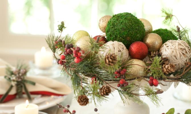 Centrotavola natalizi idee fai da te for Idee per centrotavola natalizi