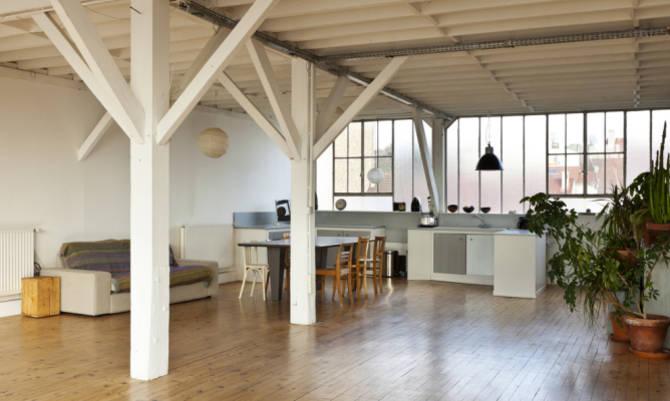 arredare casa in stile industrial chic. Black Bedroom Furniture Sets. Home Design Ideas