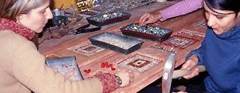 Lavorazione di mosaici a Ravenna