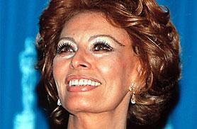 L'attrice Sophia Loren