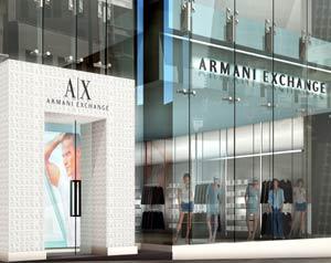 Vetrine. Armani Exchange sbarca a Tokio e Londra