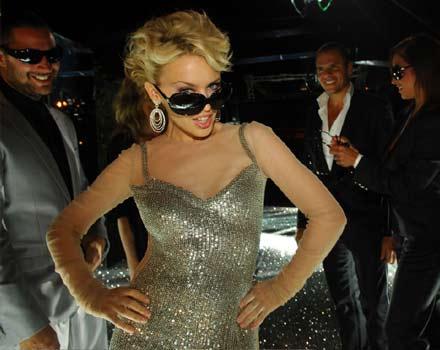 Kylie Minogue testimonial degli occhiali della collezione autunno inverno 2007 2008 di Dolce & Gabbana