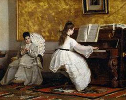 Il dipinto Girotondo di Niccolò Cannicci