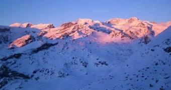 Massiccio del Rosa dalla Valle di Champoluc