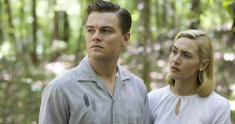 leonardo di caprio e kate winslet sul set di revolutionary road
