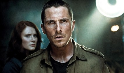 Christian Bale in una scena di Terminator Salvation