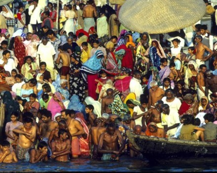 India Gange cerimonia del Ganga Aarti