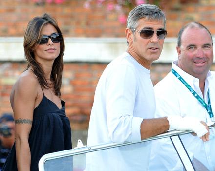 Clooney e la Canalis a Venezia