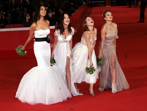 Lancio del bouquet al Festival di Roma