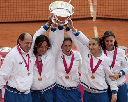 le tenniste italiane vincono la Federation Cup