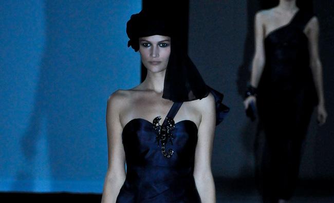 Giorgio Armani: profondo blu