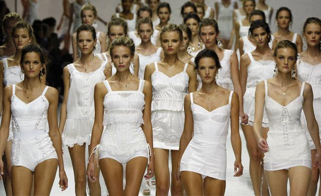 L'esercito del bianco. Dolce & Gabbana