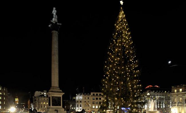 L'albero di Natale che illumina Londra