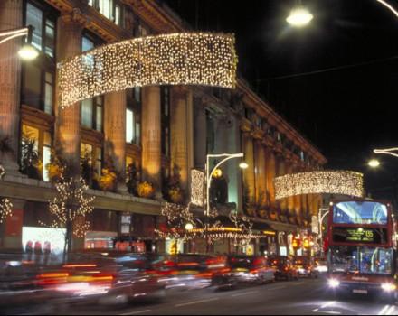 Luci di Natale a Oxford Street