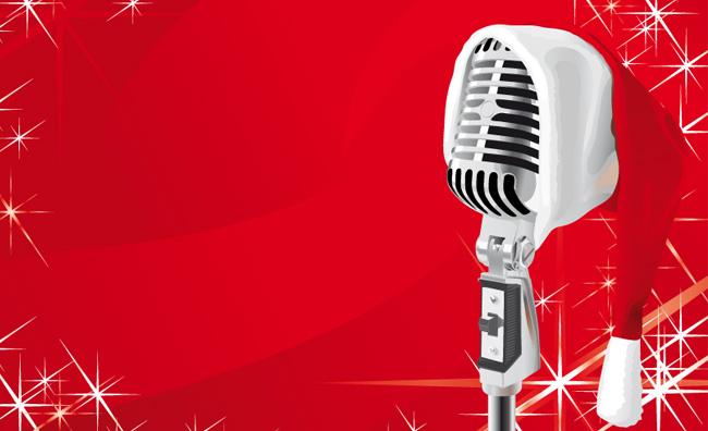 microfono natalizio