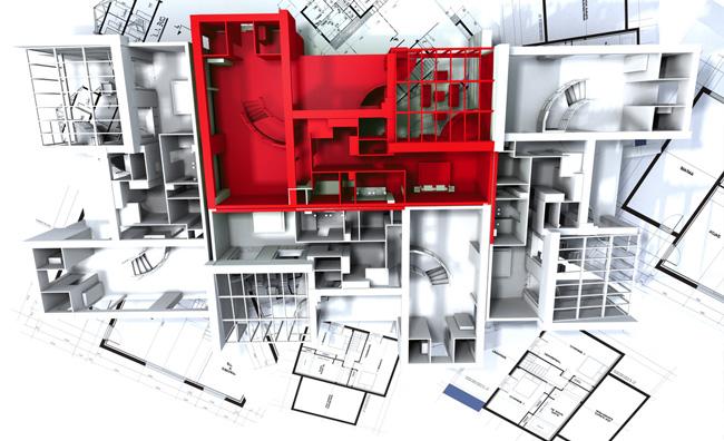 L'home design si tinge di rosso