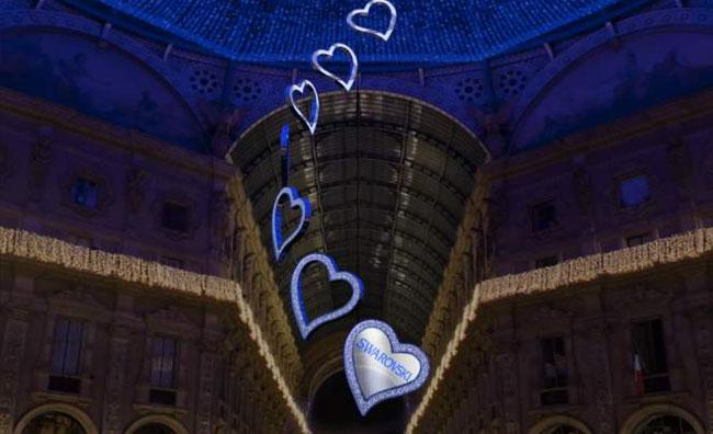 Swarovski illumina Milano per le feste