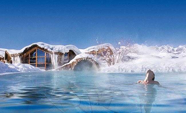 Relax tra la neve nelle strutture wellness