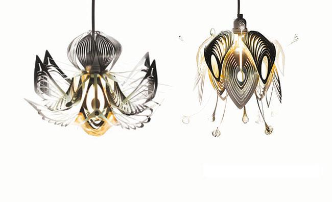Punti luci di carta, design per la natura