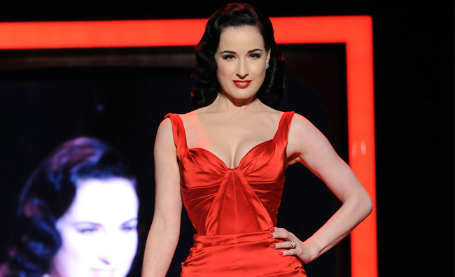 Dita Von Teese, Heart Truth Red Dress Collection 2011