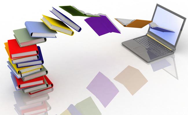 Libri che entrano in un computer