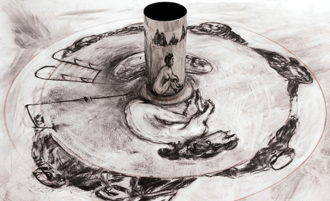 William Kentridge, Anamorphic Drawing, 2001