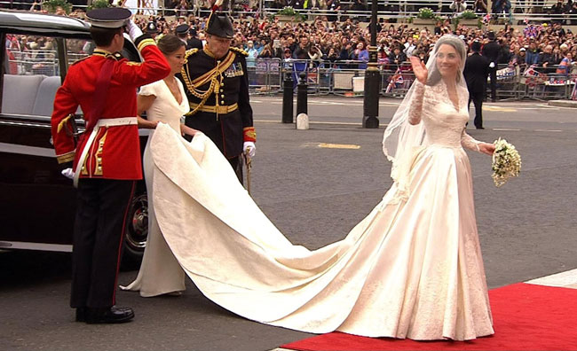 Immagini dal matrimonio reale