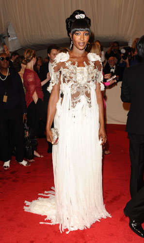 Naomi Campbell in McQueen
