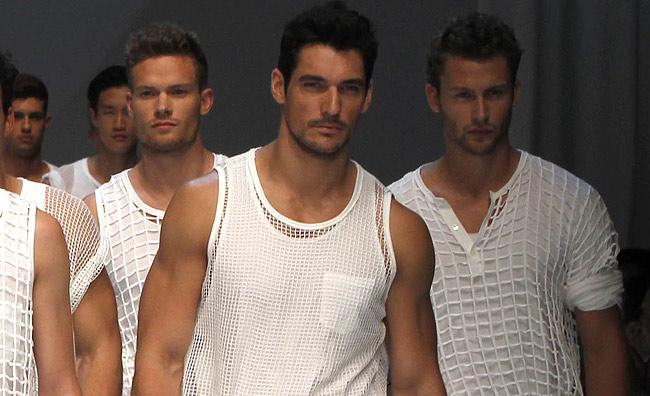 Il top model per eccellenza sfila per Dolce&Gabbana