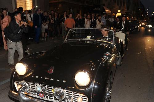 David Gandy in macchina