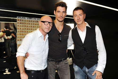 David Gandy con Dolce e Gabbana