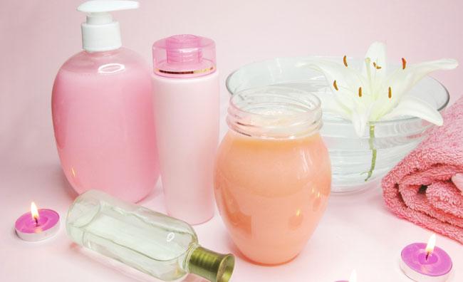 Set da bagno rosa