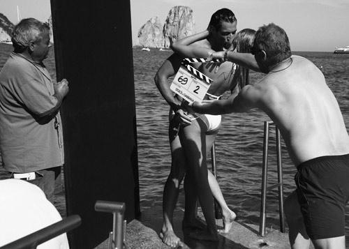 David Gandy e Marija Vujovic si baciano