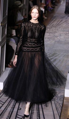 Gonna in tulle nero Valentino Autunno Inverno 2011 2012