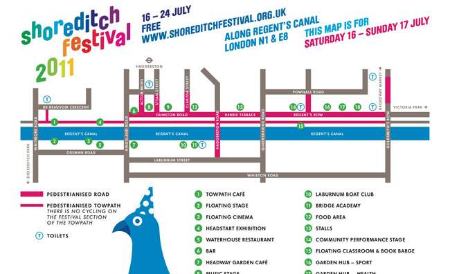 Shoreditch Festival Mappa
