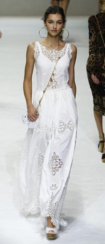 Abito bianco Dolce&Gabbana Primavera Estate 2011