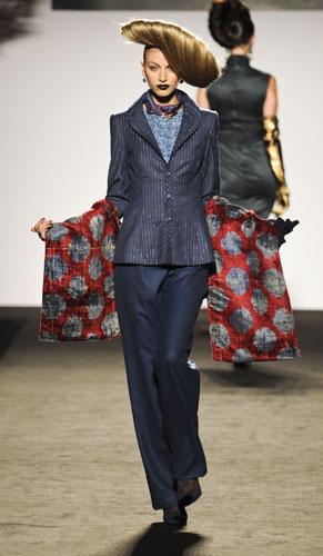 Completo blu  Raffaella Curiel Autunno Inverno 2011 201