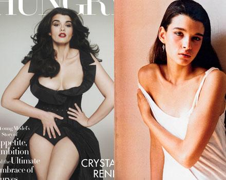 Crystal Renn... prima e dopo