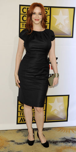 Christina Hendricks in abito nero