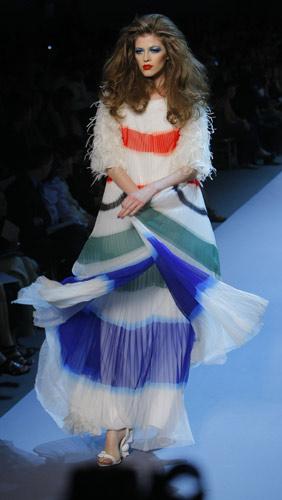 Abito plissettato Dior Autunno Inverno 2011 2012