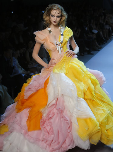 Abito chiffon Chistian Dior Autunno Inverno 2011 2012