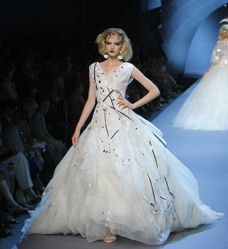 Abito bianco Dior Autunno Inverno 2011 2012