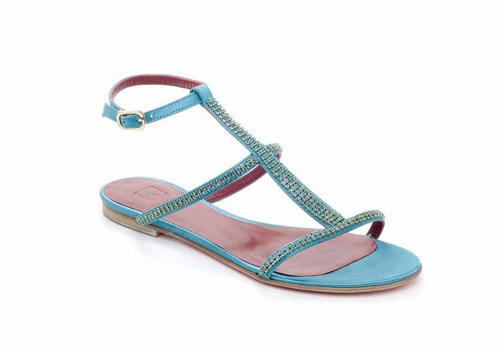 Sandalo turchese con strass di Alexander