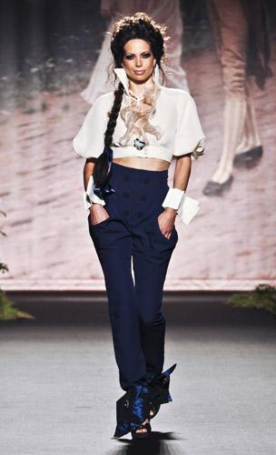 Pantalone vita alta Scuola di moda Ida Ferri, Autunno Inverno 2011 2012