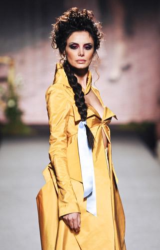 Giacca gialla Scuola di moda Ida Ferri, Autunno Inverno 2011 2012