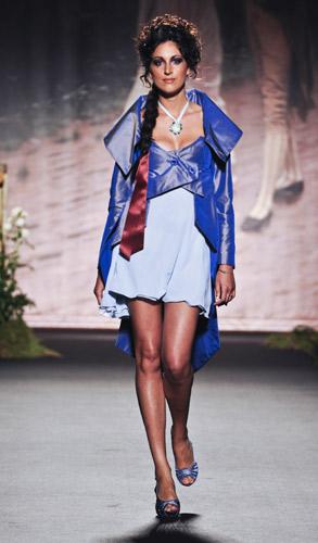 Abito azzurro Scuola di moda Ida Ferri, Autunno Inverno 2011 2012