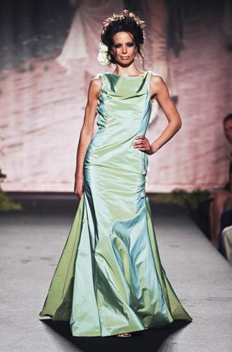 Abito verde acqua Scuola di moda Ida Ferri, Autunno Inverno 2011 2012