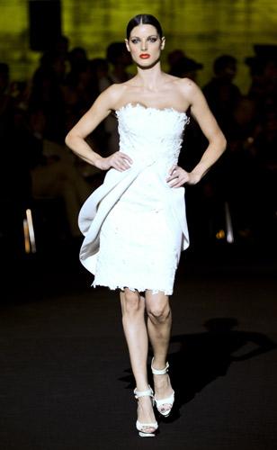 Minidress bianco Fausto Sarli Autunno Inverno 2011 2012