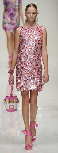 Mini abito paillettes Blugirl Primavera Estate 2011