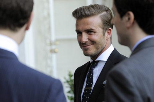 David Beckham al matrimonio reale